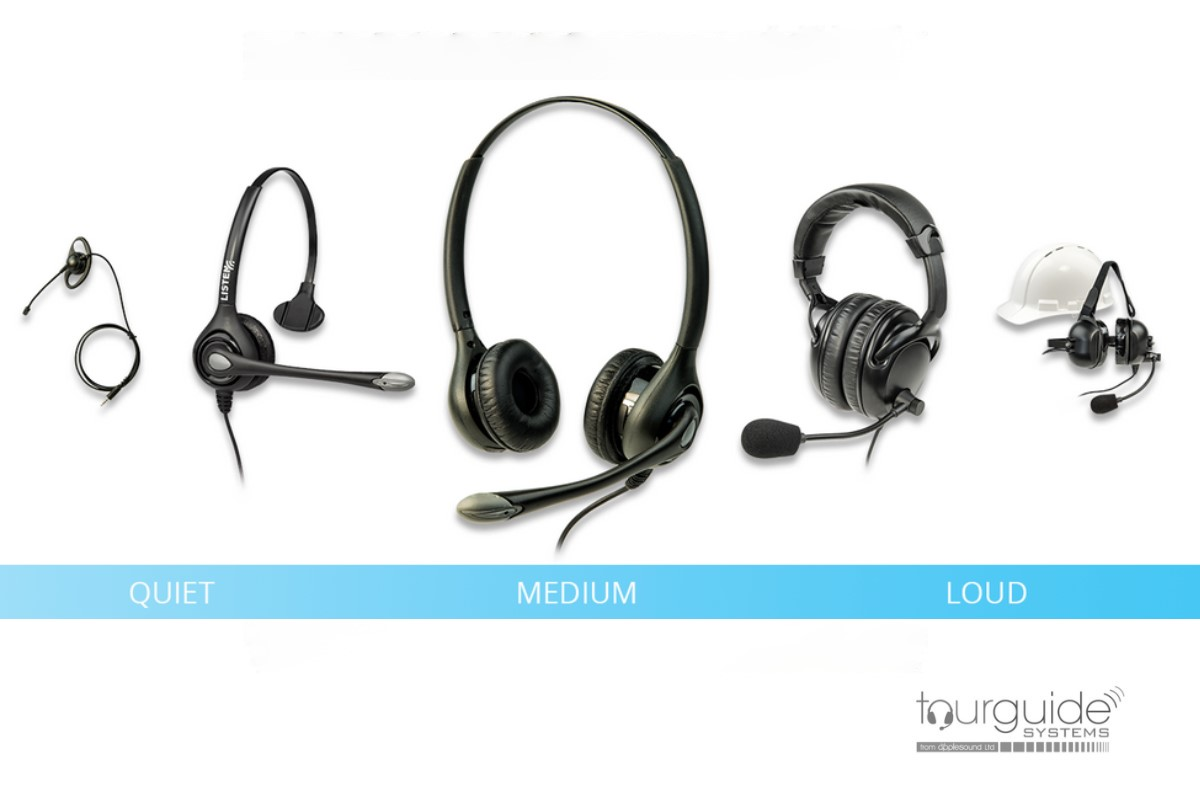 A Range of Headsets is Shown for the ListenTALK Devices