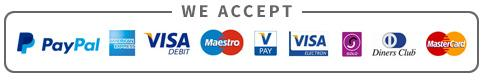 We accept the following payment types
